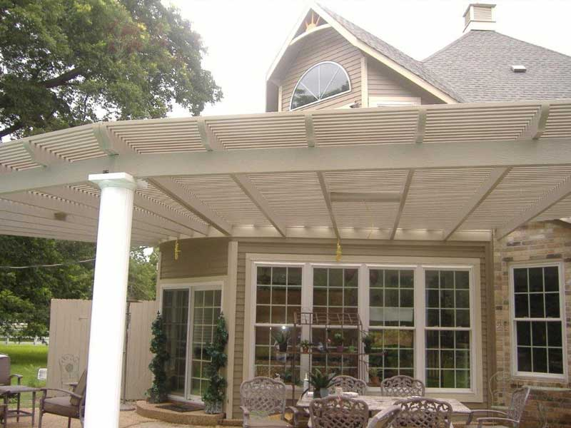 houston aluminum patio covers | metal patio covers houston, tx - Metal Roof Patio Cover Designs